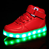 LED Light Up Shoes, Kids Boy Girl's Shoes Sneakers Comfort / Flats Athletic / Casual / Magic Tape / High Tops / USB Charge / Black / Red / White