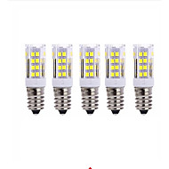 billige Kornpærer med LED-5pcs 5W 2700-3000/6000-6500lm E14 LED-kornpærer T 51 LED perler SMD 2835 Varm hvit Kjølig hvit 220V