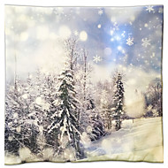 Christmas Christmas Gift Pillow Series White Pure Forest Painting Gift Pillow Cloth Material