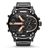 Heren Militair horloge Modieus horloge Kwarts Kalender Roestvrij staal Band Luxueus Goud