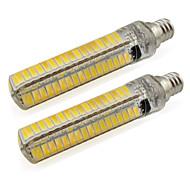 billige Kornpærer med LED-2pcs 5 W 500 lm E12 LED-lamper med G-sokkel T 136 LED perler SMD 5730 Varm hvit / Kjølig hvit 220-240 V / 110-120 V / 2 stk. / RoHs