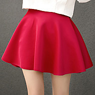 cheap Women's Skirts-Women's A Line Skirts - Solid Colored, Pleated