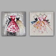 billiga Djurporträttmålningar-Hang målad oljemålning HANDMÅLAD - Stilleben Europeisk Stil Moderna Duk