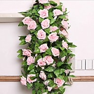 cheap Home Decor-Artificial Flowers 1pcs Branch Silk Plastic Roses Wall Flower