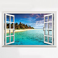 cheap Wall Stickers-3D Wall Stickers Wall Decals Style The Mediterranean Waterproof Removable PVC Wall Stickers