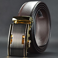 cheap Men's Accessories-Men's Leather Alloy Waist Belt,Brown Work Casual Solid