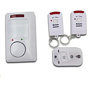 מערכת אלחוטית אינפרא אדום תנועת גילוי אזעקה עם שני שלטים רחוקים עבור אבטחה בבית