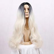 女性 人工毛ウィッグ キャップレス ロング丈 非常に長いです ルーズウェーブ ブリーチブロンド ナチュラルウィッグ コスチュームウィッグ