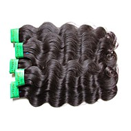 8A Indian Body Wave Virgin Hair 5Bundles 500g Lot Unprcoessed Indian Human Hair Extensions Weaves Natural Black Color No Shedding No Tangles
