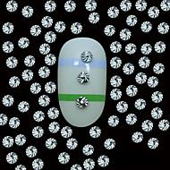 halpa -100kpl 2mm pyöreä hopeinen metalli niitti studs top viljan linja kynsikoristeet koriste