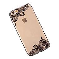 billiga Mobil cases & Skärmskydd-fodral Till Apple iPhone 6 iPhone 6 Plus Genomskinlig Mönster Skal spetsar Utskrift Mjukt TPU för iPhone 6s Plus iPhone 6s iPhone 6 Plus