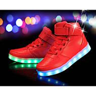 baratos Sapatos de Menino-Para Meninos Sapatos Couro Ecológico Inverno Conforto / Tênis com LED Tênis para Preto / Prateado / Vermelho