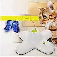 お買い得  犬用おもちゃ-猫用おもちゃ ペット用おもちゃ インタラクティブ ティーザー 電子 蝶型 プラスチック ペット用