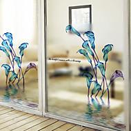 Bloemen Hedendaags Raamsticker,PVC/Vinyl Materiaal raamdecoratie