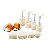 baratos Utensílios de Fruta e Vegetais-Utensílios de cozinha Plástico Multifunções Mold DIY para biscoito 1conjunto