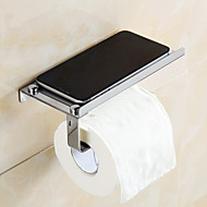 Porte Papier Toilette / Chrome Acier inoxydable /Contemporain