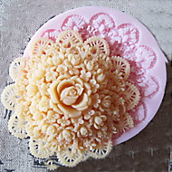 עובש 3D סיבוב סיליקון פרח שוקולד כלים מלאכת סוכר תבניות יצקת תבנית לעוגות
