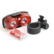 自転車用ライト 後部バイク光 - サイクリング 滑り止めグリップ スマールサイズ スーパーライト 調光可能 単四電池 ルーメン バッテリー レッド サイクリング