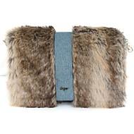 Χαμηλού Κόστους Fur Bags-Γυναικεία Τσάντες Γούνα Σταυρωτή τσάντα Φτερά / Γούνα για Causal ΕΞΩΤΕΡΙΚΟΥ ΧΩΡΟΥ Χειμώνας Φθινόπωρο Καφέ