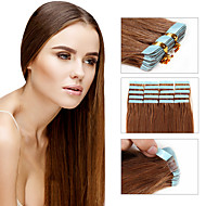 Febay Biadesivo Estensioni dei capelli umani Liscio Cappelli veri Extension di capelli umani Per donna Biondo ramato