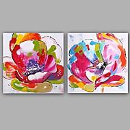 billiga Blom-/växtmålningar-Hang målad oljemålning HANDMÅLAD - Blommig / Botanisk Klassisk Europeisk Stil Duk
