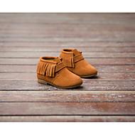 baratos Sapatos de Menina-Para Meninas Sapatos Couro Inverno Botas da Moda Botas Mocassim para Preto / Marron / Vermelho / Salto Plataforma