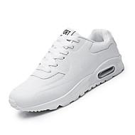Dame-PU-Flat hæl-Komfort-Sportssko-Fritid-Svart Rød Hvit