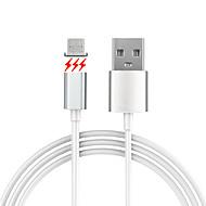 USB 2.0 Micro USB 2.0 Mágneses Kábel Kompatibilitás Samsung Huawei Sony Nokia HTC Motorola LG Lenovo Xiaomi 150 cm PVC Alumínium