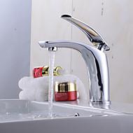 preiswerte -Moderne Mittellage Verbreitete Keramisches Ventil Einhand Ein Loch Korrektur Artikel, Waschbecken Wasserhahn