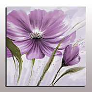 Large Hand Painted Purple Flowers Oil Painting On Canvas Modern Wall Art Picture For Living Room Home Decoration Ready To Hang