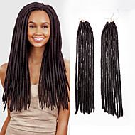 abordables -dreadlocks Tresse Natté Tresses au Crochet 45cm Fausses Dreads Fausses Dreads Crochet Dreadlock Extensions Cheveux 100 % Kanekalon Auburn