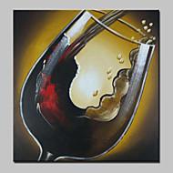 billiga Abstrakta målningar-HANDMÅLAD Abstrakt Mat olje,Moderna En panel Kanvas Hang målad oljemålning For Hem-dekoration