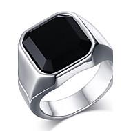 Muškarci Onyx Tikovina Prsten Prsten Izjave - Moda Zlato Pink Prsten Za Dnevno Kauzalni