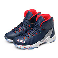 Basketball Shoes Men's Athletic Shoes Spring Fall PU Casual Flat Heel Lace-up Red/black Black/Silver Red Royal Blue Blue+Pink