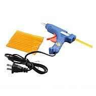 1Pcs 20W US Plug Mini-Electronic Glue Gun  12Pcs Keratin Fusion Hair Glue Sticks