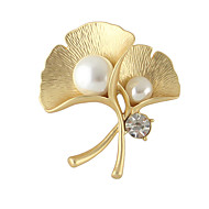 Mulheres Broches Fashion Prata Dourado Jóias Para Casual
