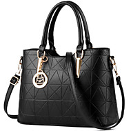 cheap -Women's Bags PU Tote / Zipper Rivet for Formal / Outdoor / Office & Career Pink / Wine / Light Blue