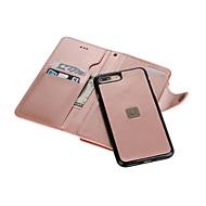 用途 iPhone 8 iPhone 8 Plus iPhone 7 iPhone 7 Plus iPhone 6 ケース カバー ウォレット カードホルダー ミラー フルボディー ケース 純色 ハード PUレザー のために Apple iPhone 8 Plus