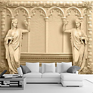 cheap Wallpaper-Art Deco 3D Home Decoration Classical Wall Covering, Canvas Material Adhesive required Mural, Room Wallcovering