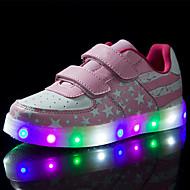 tanie Obuwie chłopięce-Dla chłopców Buty Skóra Wiosna Jesień Świecące buty Zabawne Comfort Tenisówki LED Tasiemka na Casual Na wolnym powietrzu Różowy