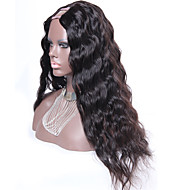 Water Wavy U Part Wig Brazilian Remy Virgin Hair 22Inch 130% Density 1.5*4 Middle Part Natural Color Upart Wig For Sale