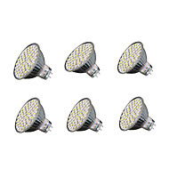 6pcs 4W 240 lm GU5.3 Focos LED MR16 60 leds SMD 3528 Blanco Cálido Blanco Fresco 3000-3200/6000-6500