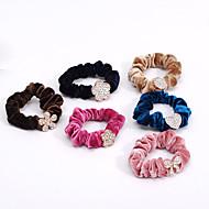 South Korea Diamond Tiara FRlannelette Hair Ring Hair Rope Rope Sinews Bit Flower 5pcs