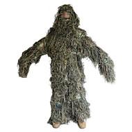 Hombre Mujer Unisex camuflaje Ropa de caza con camuflaje de hojas Al aire libre Transpirable Listo para vestir Trajes de Yoga Primavera Verano Otoño Terileno Manga Larga Caza / Invierno
