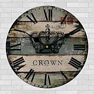 Tradicional Regional Retro Florais/Botânicos Personagens Música Relógio de parede,Redonda 30*30 Interior/Exterior Relógio