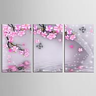 Canvas Set Kukkakuvio/Kasvitiede Eläin Classic Pastoraali,3 paneeli Kanvas Pystysuora Tulosta Art Wall Decor For Kodinsisustus
