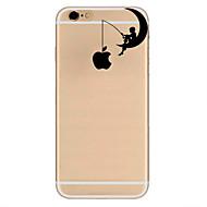Para Ultra-Fina Estampada Capinha Capa Traseira Capinha Brincadeira Com Logo da Apple Macia TPU para AppleiPhone 7 Plus iPhone 7 iPhone