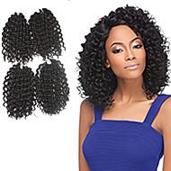 Jerry Curl Pre-loop Crochet Braids Medium Brown Hair Braids 9Inch Kanekalon 1 Package For Full Head 170g Hair Extensions