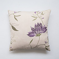 cheap Pillow Covers-1 pcs Polyester Pillow Case, Embellished&Embroidered Accent/Decorative Traditional/Classic