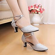 billige Moderne sko-Dame Sko til latindans Glimtende Glitter / Paljett Sandaler Innendørs / Ytelse / Profesjonell Paljett / Gummi Stiletthæl Kan ikke